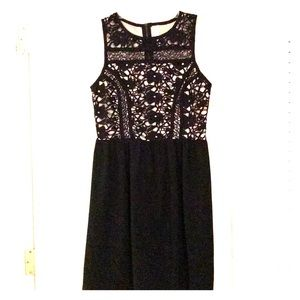 NWOT Black Lacy Floral Dress
